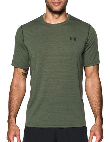 Under Armour Threadborne Siro Striped T-Shirt-GREEN-Medium 89163118_GREEN_Medium