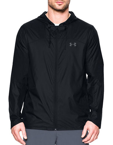 Under Armour Leeward Windbreaker Jacket-BLACK-Large 88983425_BLACK_Large