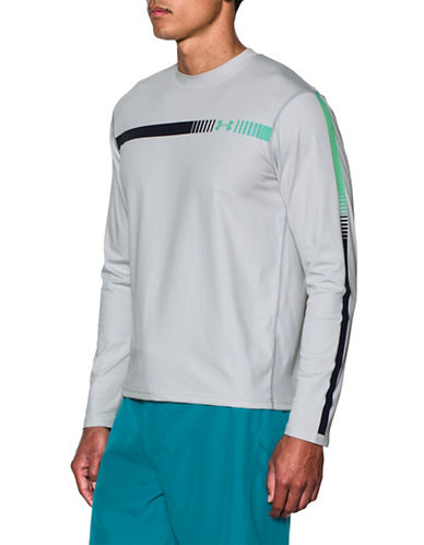 Under Armour Rashguard Threadborne Long-Sleeved Shirt-GREY-X-Large 89067118_GREY_X-Large