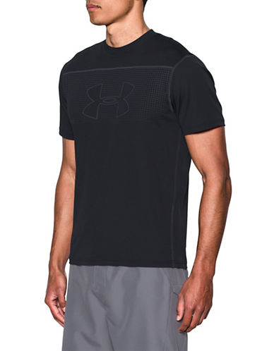 Under Armour Rashguard Threadborne T-Shirt-BLACK-Medium 89067126_BLACK_Medium