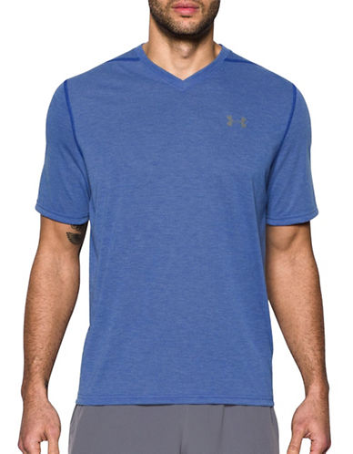 Under Armour Threadborne Siro T-Shirt-BLUE-Small