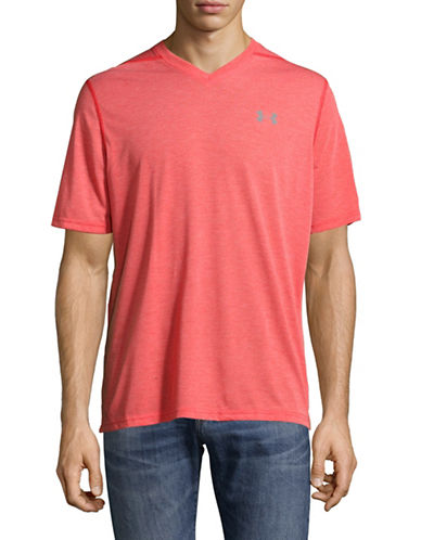 Under Armour High V-Neck T-Shirt-RED-Small