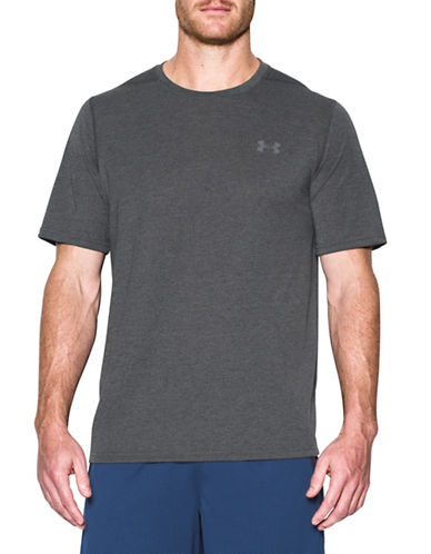 Under Armour Threadborne Siro 3C Twist T-Shirt-BLACK-XX-Large