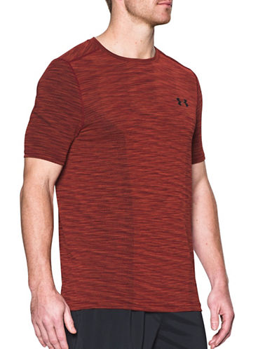 Under Armour Threadborne Seamless T-Shirt-RED-Large