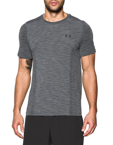 Under Armour Threadborne Seamless T-Shirt-GREY-X-Large 89103069_GREY_X-Large