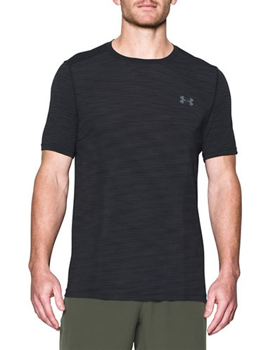 Under Armour Threadborne Seamless T-Shirt-BLACK-Medium 89055077_BLACK_Medium