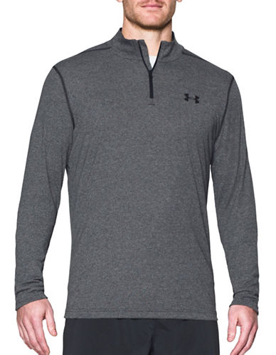 Under Armour Threadborne Siro Quarter Zip Sweater-BLACK-Small