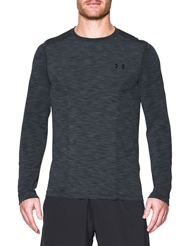 Under Armour Threadborne Seamless Long Sleeve Tee-GREY-Large