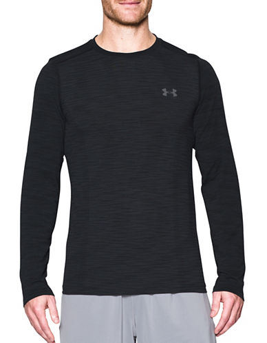 Under Armour Threadborne Seamless Long Sleeve T-Shirt-BLACK-XX-Large