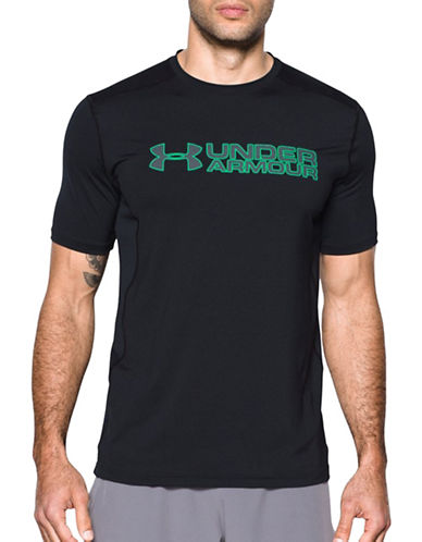 Under Armour Raid Graphic HeatGear Tee-BLACK-Large 89109265_BLACK_Large