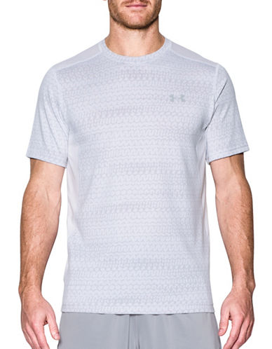 Under Armour Raid Jacquard Short Sleeve Tee-WHITE-Large 89098982_WHITE_Large