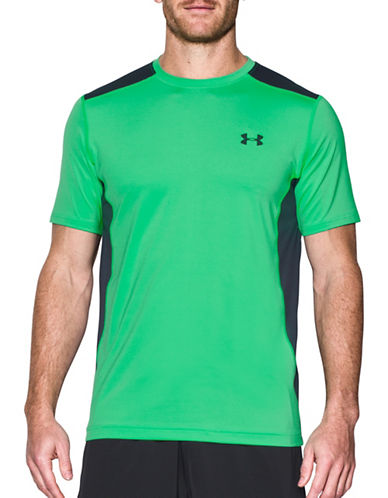 Under Armour Raid Mesh Paneled Tee-GREEN-X-Large 89098788_GREEN_X-Large