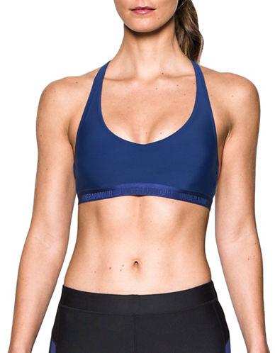 Under Armour Low Impact Sports Bra-PURPLE-Medium