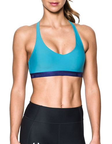 Under Armour Strappy Sports Bra-BLUE-X-Large
