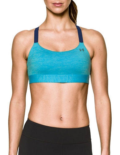 Under Armour Eclipse Heather Shape Mid Impact Sports Bra-BLUE-X-Large 89261057_BLUE_X-Large