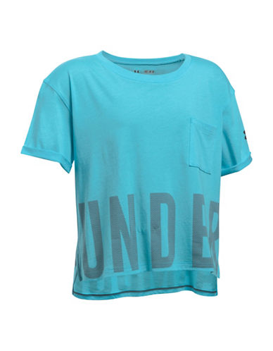 Under Armour Studio Cotton Blend Tee-BLUE-X-Small 89102388_BLUE_X-Small