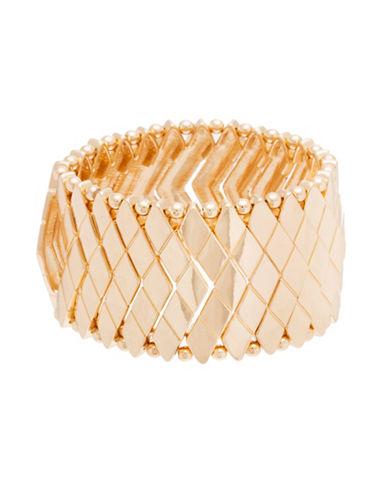 Steve Madden Goldtone Arrow Stretch Bracelet-GOLD-One Size