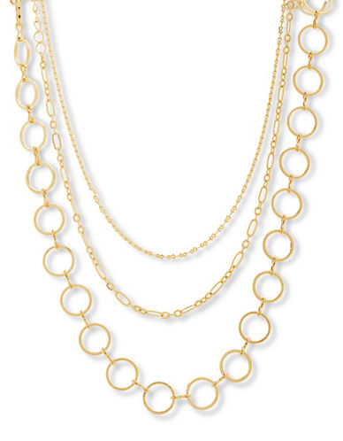Steve Madden Chain Choker Necklace-GOLD-One Size