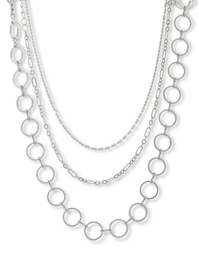 Steve Madden Chain Choker Necklace-SILVER-One Size