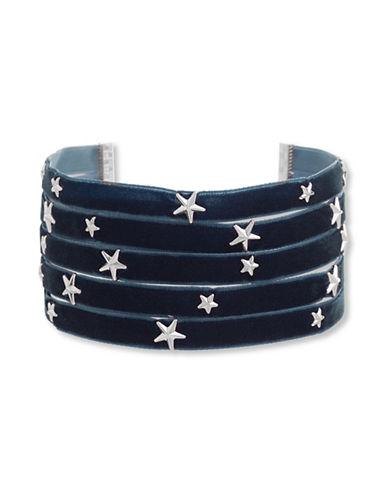Steve Madden Star Charm Choker Necklace-BLUE-One Size