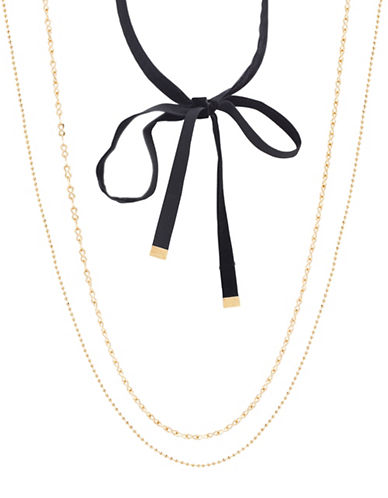 Steve Madden Chain and Open Wrap-Around Choker Necklace-GOLD-One Size