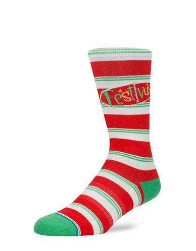 Stance Seinfeld Festivus Mens Socks-RED-One Size