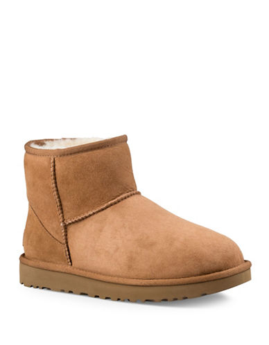 Ugg Mini II Suede Booties-CHESTNUT-10