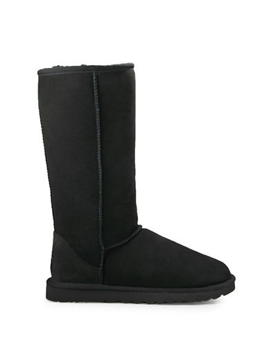 Ugg Classic Tall II Sheepskin and Suede Boots-BLACK-10
