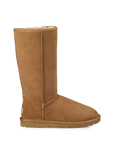 Ugg Classic Tall II Sheepskin and Suede Boots-CHESTNUT-11
