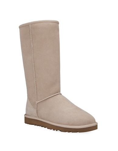 Ugg Classic Tall II Sheepskin and Suede Boots-SAND-5