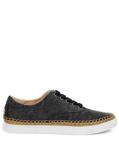 Ugg Eyan II Canvas Sneakers-BLACK-9