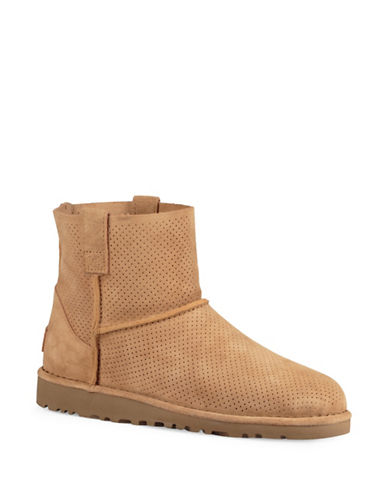 Ugg Classic Mini Perforated Suede Boots-TAWNY-6