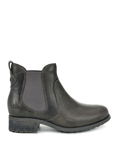 Ugg Bonham Leather Chelsea Boots-GREY-9