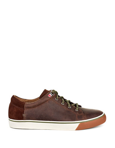 Ugg Brock Pearson Waterproof Suede Low Top Sneakers-BROWN-10
