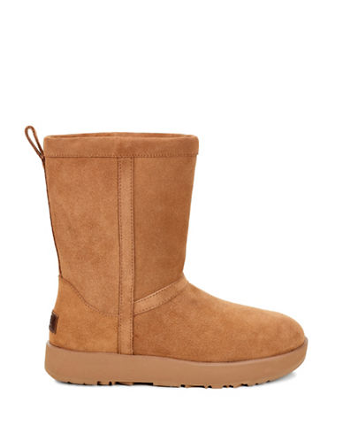 Ugg Classic Waterproof Suede Mid-Calf Boots-CHESTNUT-9
