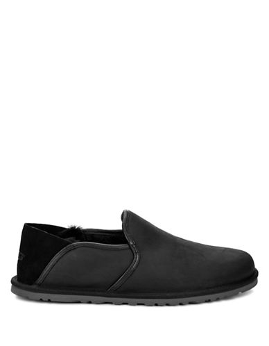 Ugg Cooke Leather Loafers-BLACK-10