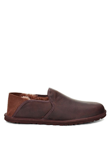 Ugg Cooke Leather Loafers-BROWN-10