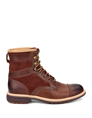 Ugg Magnusson Leather Ankle Boots-BROWN-8