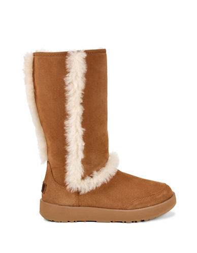 Ugg Dyed Sheepskin Mid-Calf Boots-CHESTNUT-9