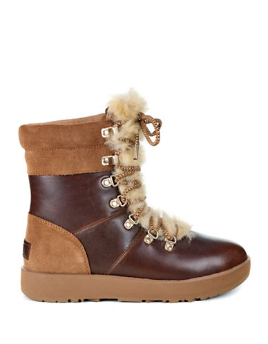 Ugg Viki Leather and Suede Boots-BROWN-8