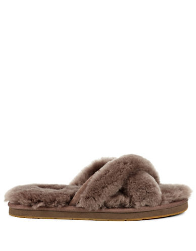 Ugg Abela Suede Slippers-GREY-11
