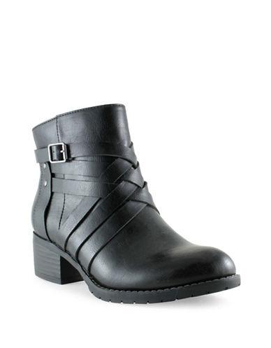 Euro Soft Merced Short Cross-Strap Booties-BLACK-7.5