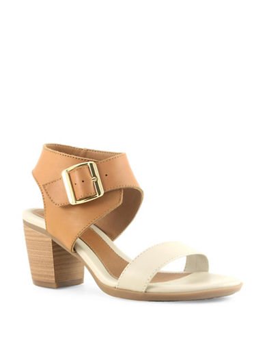Euro Soft Maitland Stacked Heel Leather Sandals-BROWN-8.5