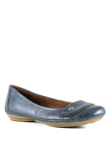 Euro Soft Sena Cotton Ballet Flats-NAVY-8.5