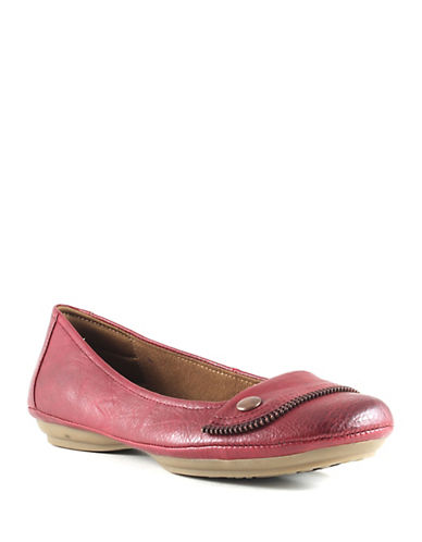 Euro Soft Sena Cotton Ballet Flats-BURGUNDY-8.5