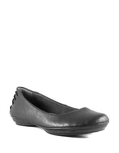 Euro Soft Sitara Cotton Ballet Flats-BLACK-9.5