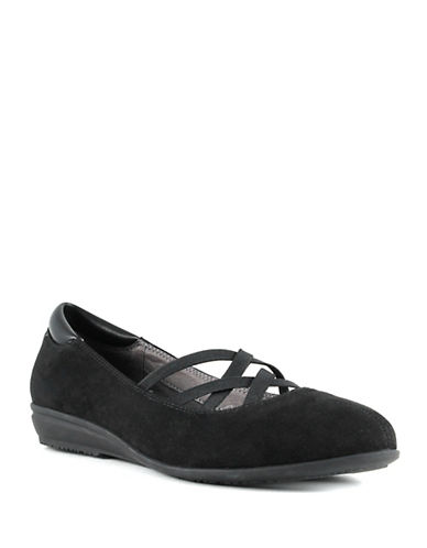 Euro Soft Sabin Slip-On Ballet Flats-BLACK-9.5