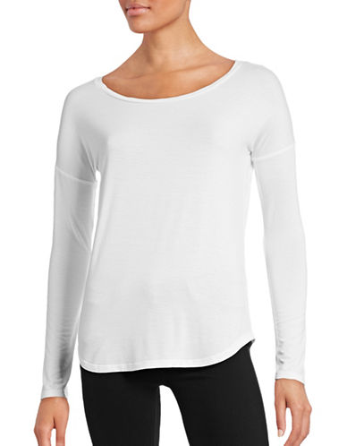 Paige Long-Sleeve Boat Neck Top-WHITE-X-Small 88490328_WHITE_X-Small