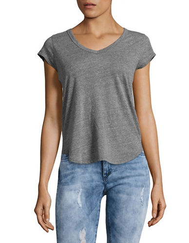 Paige Nicoletta V-Neck T-Shirt-GREY-Medium 89095186_GREY_Medium