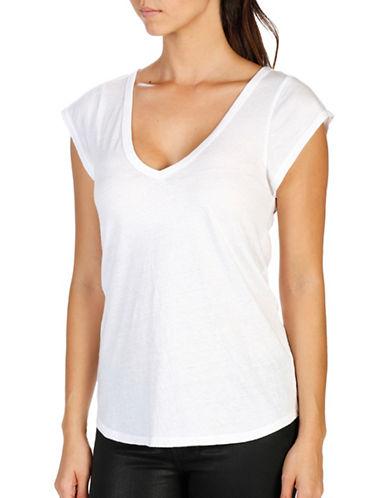 Paige Nicoletta Cap Sleeve Tee-WHITE-Medium 89095178_WHITE_Medium